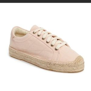 Soludos Baby Pink Espadrille Sneakers 10